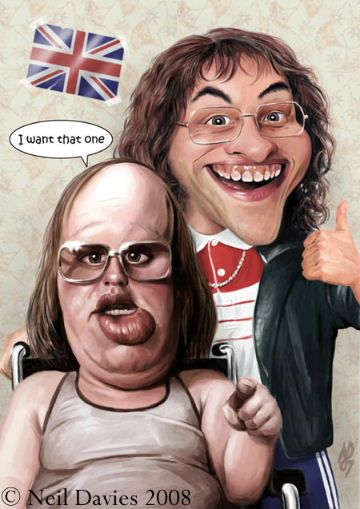 art inspired by lou and andy from little britain little. Black Bedroom Furniture Sets. Home Design Ideas
