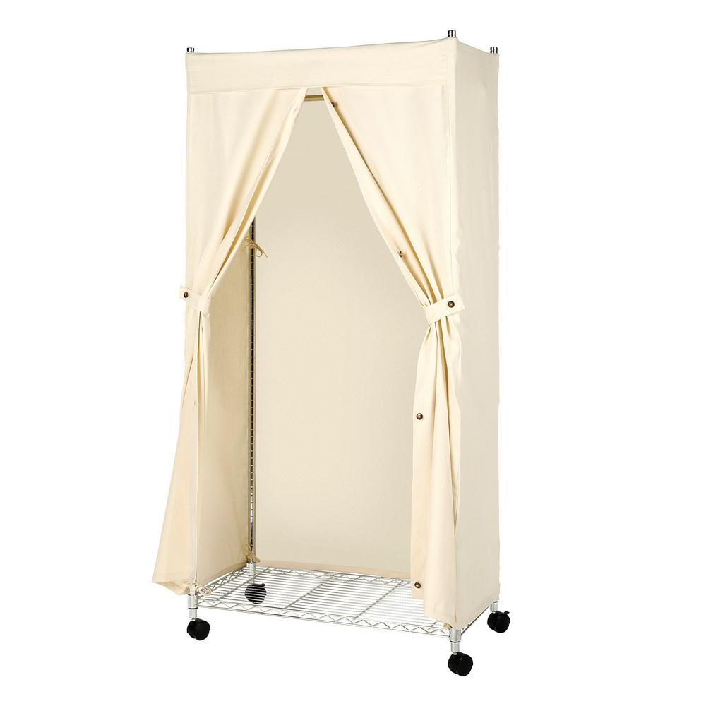Whitmor Canvas Supreme 36 In W X 65 5 In H Garment Rack Cover