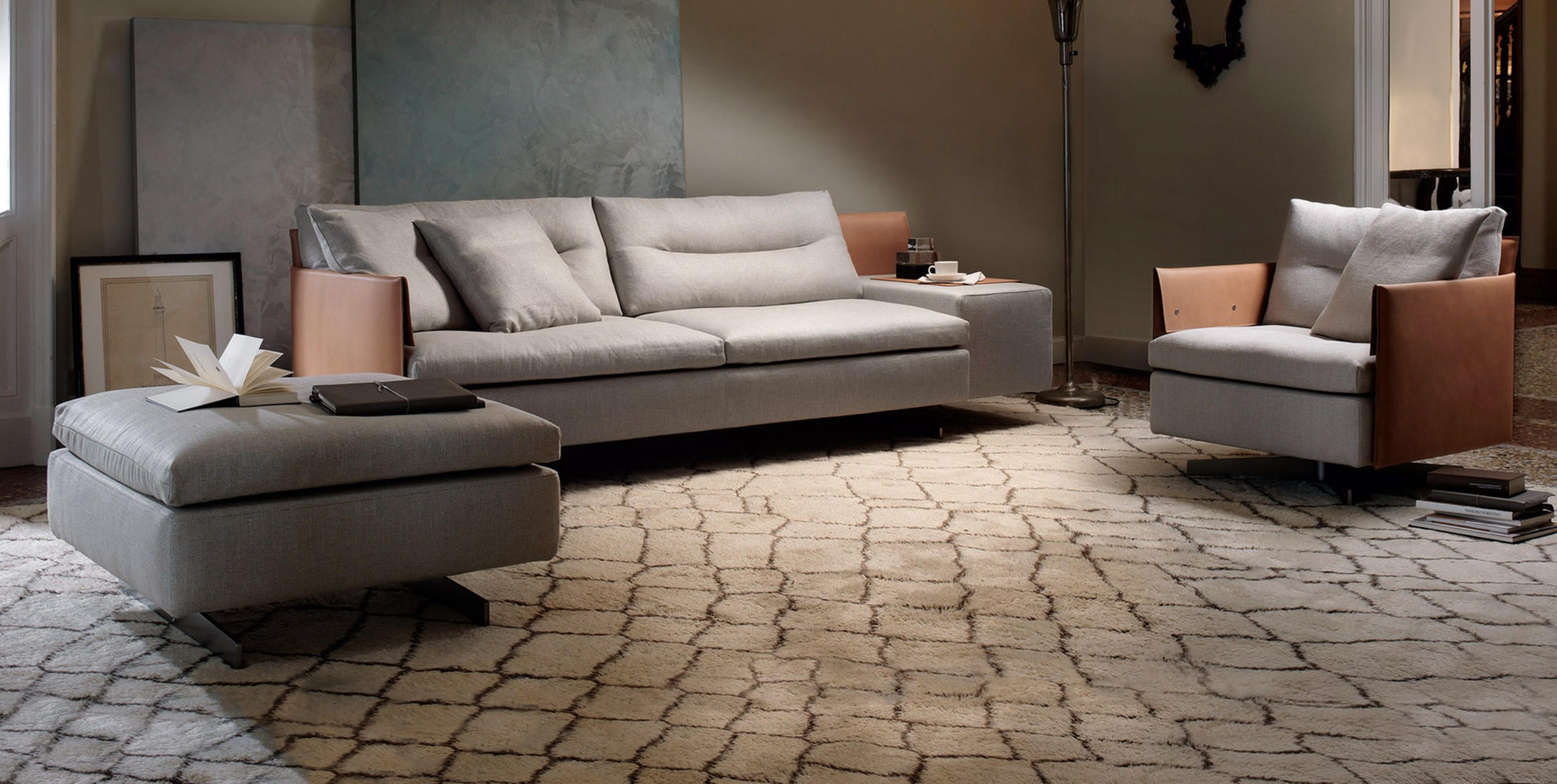 Poltrona Frau Gran Torino Modular sofa, Soft seating, Sofa