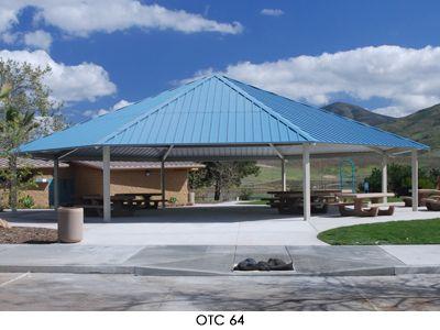 Octagon Hip Roof Park Shelter Diy Patio Cover Diy Patio Patio