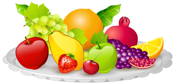 Plate with Fruits PNG Clipart Image   Fruit clipart, Fruit cartoon, Food  clipart