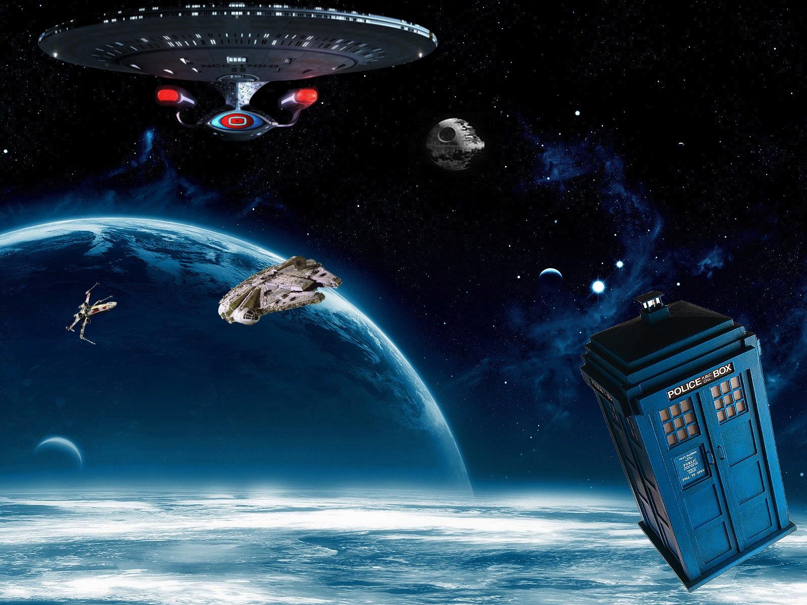 Star Wars Star Trek Uss Enterprise Doctor Who Crossovers Nc 1701 D 1600x1200 Wallpaper Uss Enterprise Star Trek Star Wars Star Pictures