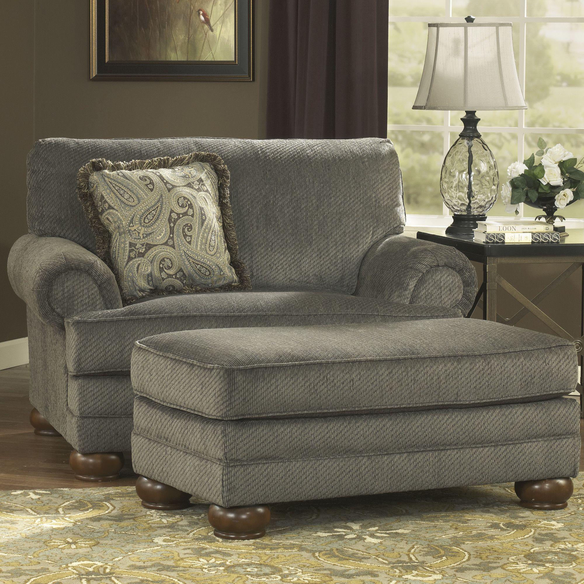 Hatton Chair And A Half And Ottoman