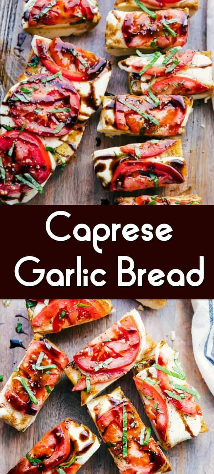 Baked Caprese Garlic Bread Recipe | Princess Pinky Girl #thanksgivingappetizersideas