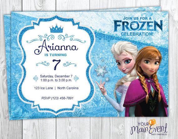 Frozen Birthday Invitation Printable Frozen Party Invites