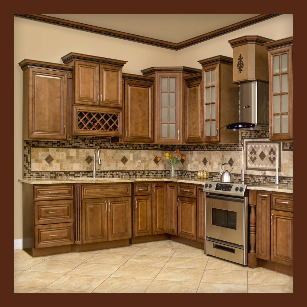 Terrific Details About 10X10 All Solid Wood Kitchen Cabinets Geneva Home Interior And Landscaping Ologienasavecom