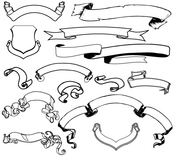 Ribbon Banner Free Vector Pack