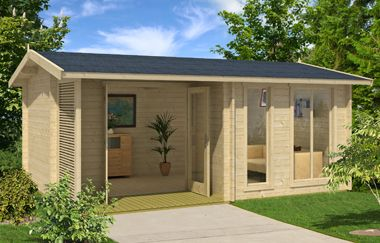 Brighton 44 log cabin, garden office, Log Cabins for sale, Free ...