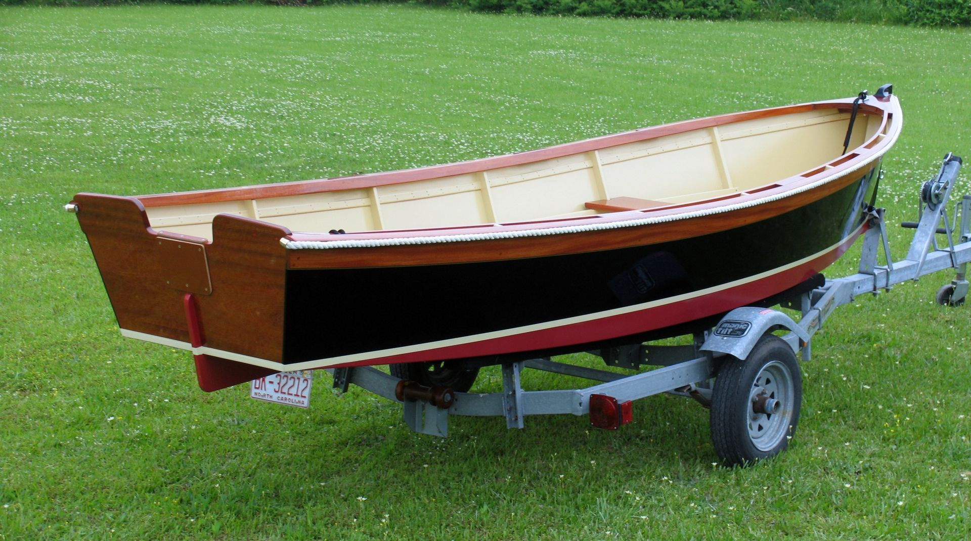 Custom Made 14' Outboard Skiff_Atkins Design | Wooden boat ...