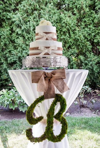 initial in burlap for standing table jeff s wedding ideas rh pinterest ca