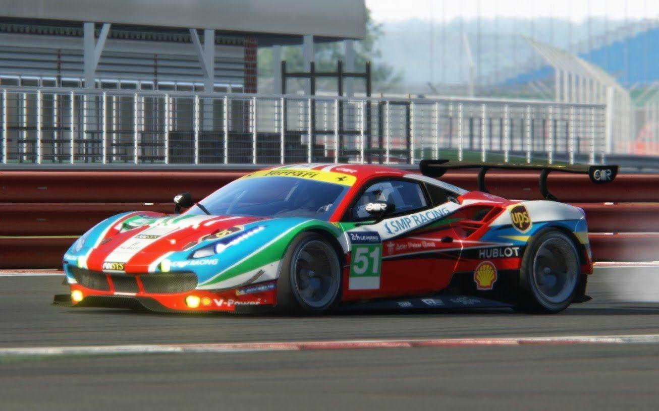Assetto Corsa - Ferrari F488 GTE at Silverstone   Assetto