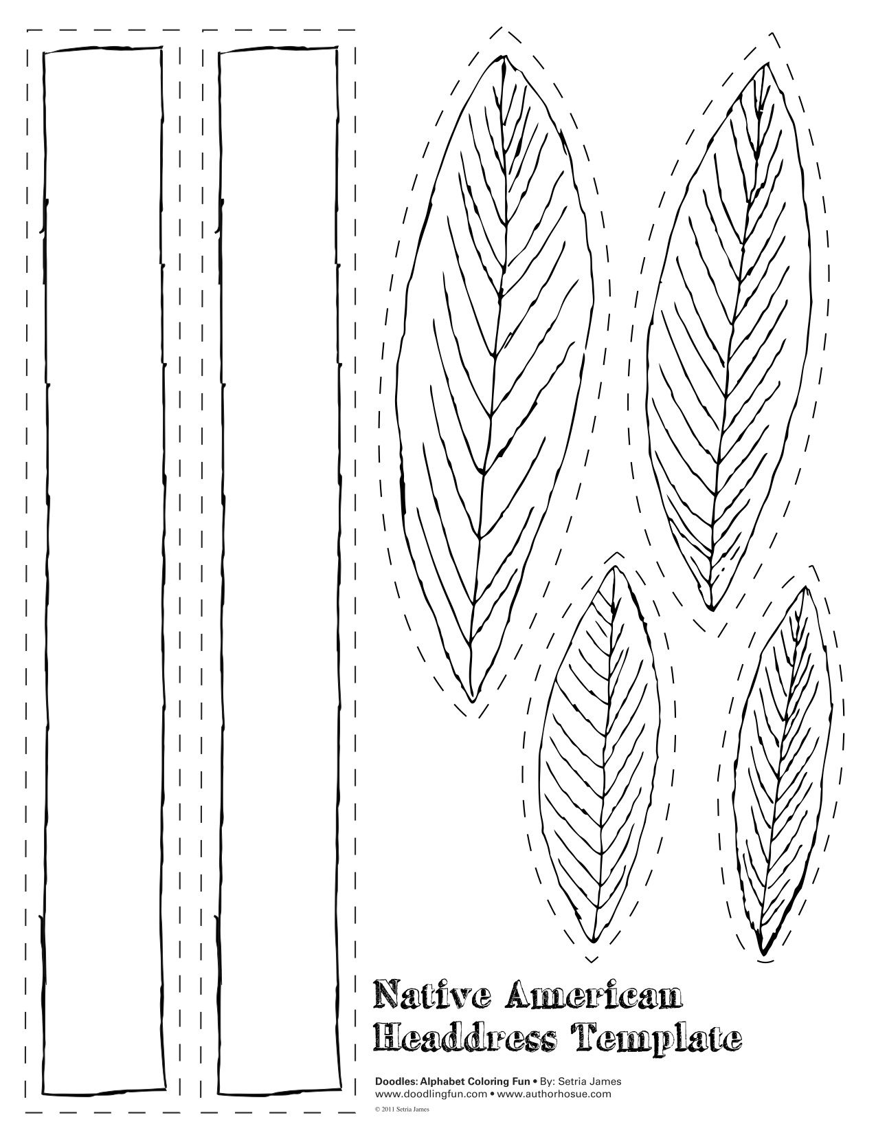 Indian Feather Template Coloring Page 12281 Native American