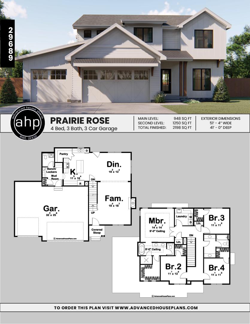 2 Story Modern Farmhouse Plan Prairie Rose Modern Farmhouse Plans Sims House Plans Modern Style House Plans