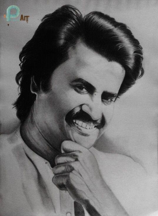 My pencil portrait of Superstars Rajini | Pencil portrait ...