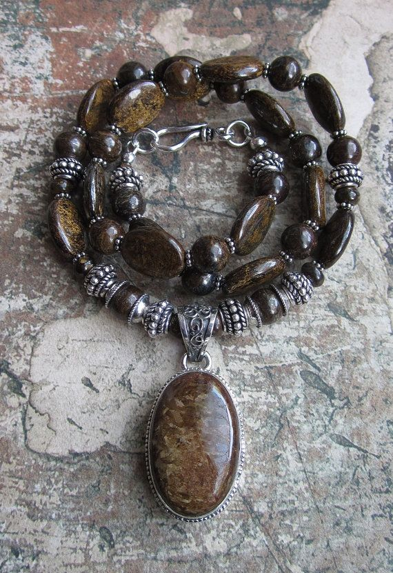 Bronzite Beauty in Silver -- Necklace Reserved for E