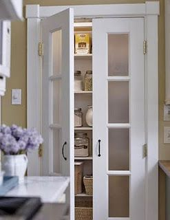 Inspiration: French Doors - Décor Inspired  (*kitchen pantry)