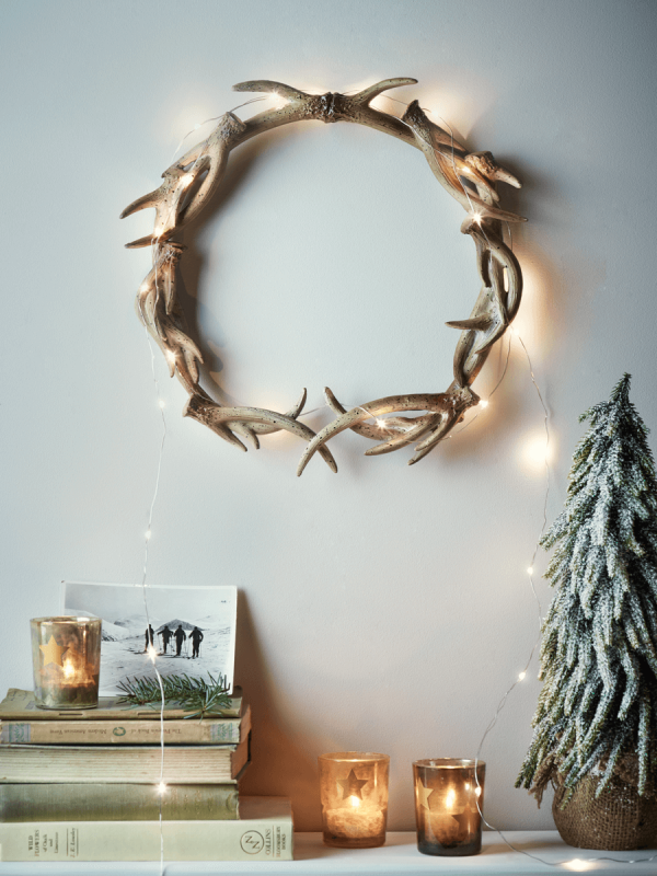 Faux Antler Wreath GBP25