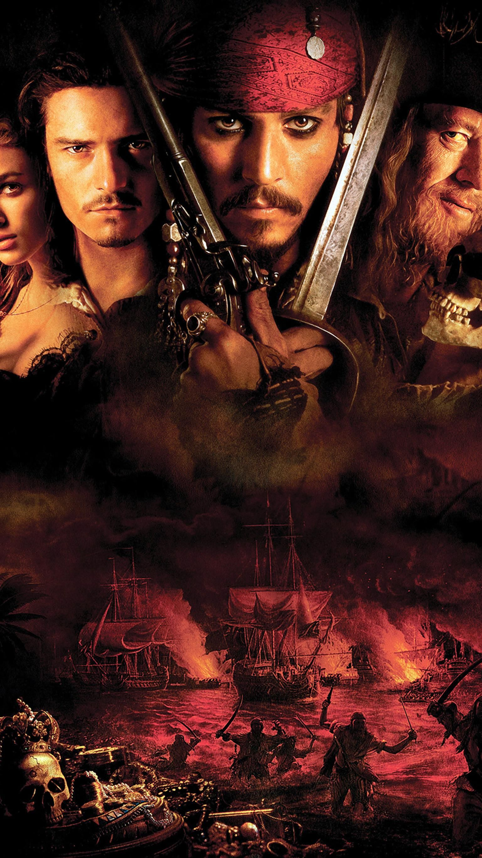 Pirates Of The Caribbean The Curse Of The Black Pearl 2003 Phone Wallpaper Moviemania Pirates Of The Caribbean Pirates Caribbean