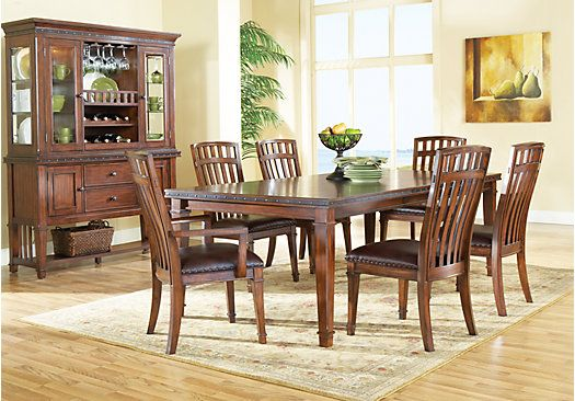 Shop For A Cindy Crawford Home Austin Hills 7 Pc Leg Diningroom At Rooms To Go Find Dining Room Affordable Dining Room Sets Dining Room Sets Dining Room Style