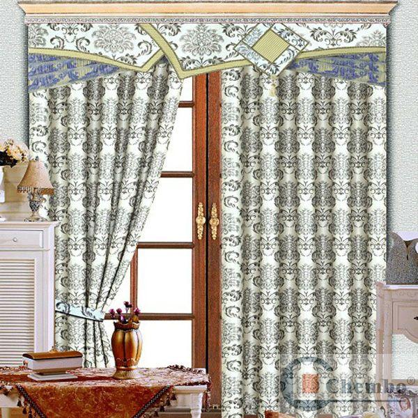 nouveau modèle avec la conception de rideau cantonnière-Rideaux-Id ...