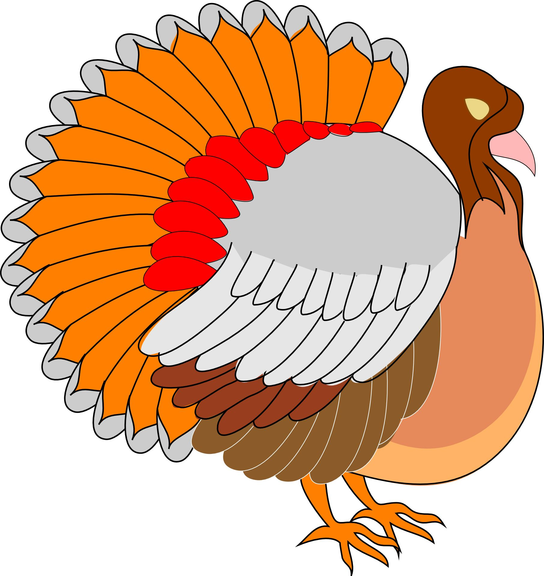 Colorful Turkey Vectorfree Psd Vector Icons Graphics Thanksgiving Clip Art Turkey Clip Art Thanksgiving Lessons