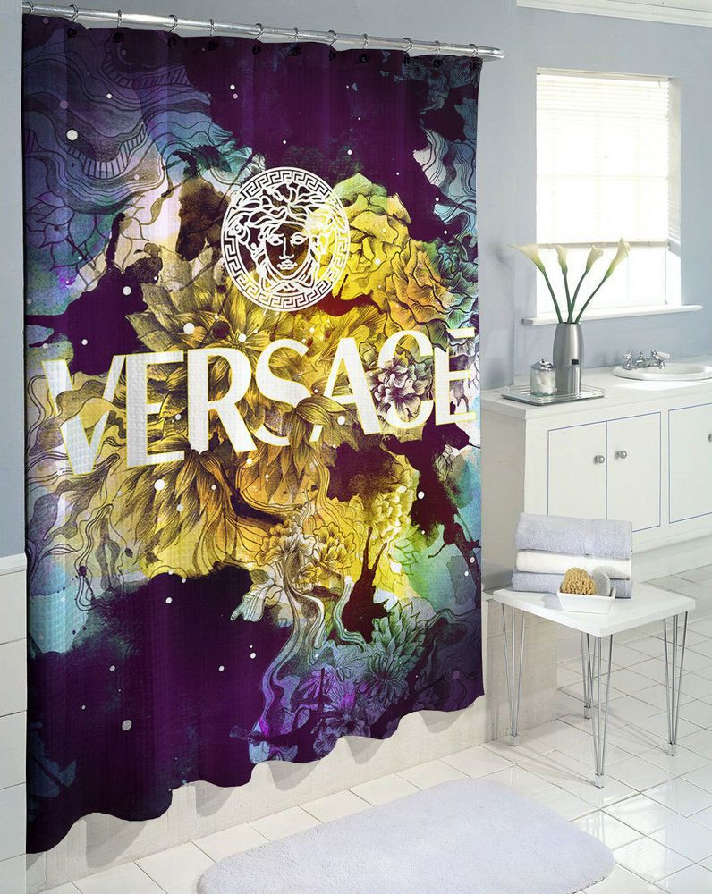 New Fl Logo Versace High Quality Waterproof Shower Curtain 60 X 72 66