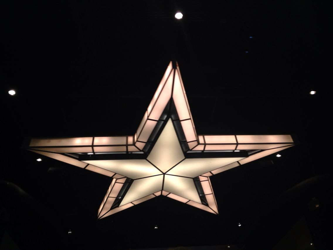 The Star in the players entrance
