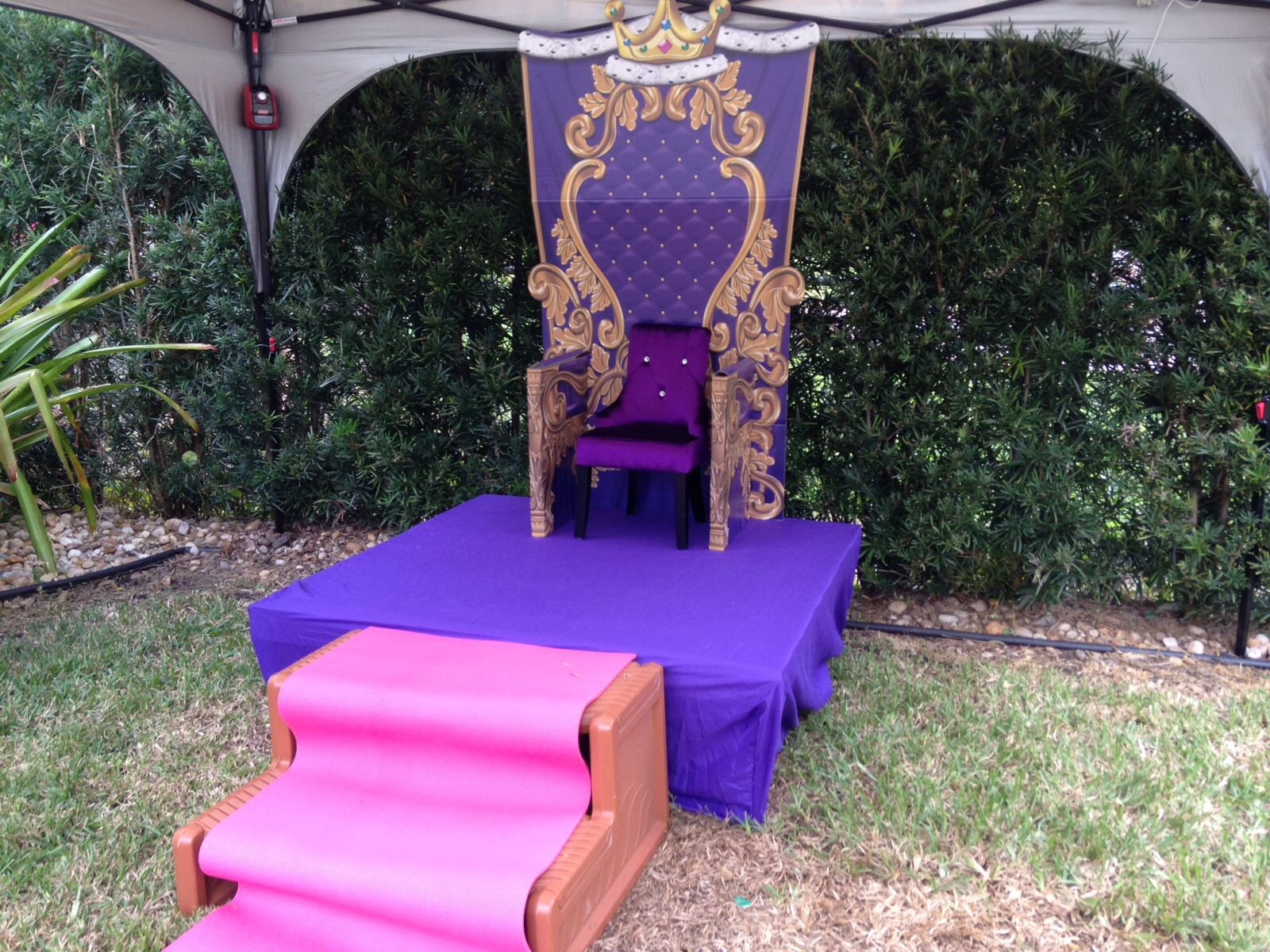 Throne From Shindigz Purple Chair From Ross Stage Made Of