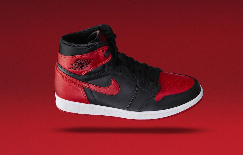 The 2016 Air Jordan 1 High Bred/Banned colorway is officially introduced by  Jordan Brand.