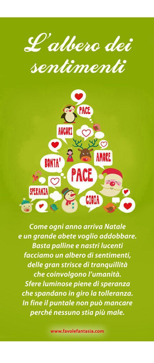Poesie Di Natale Per Bambini Asilo.Poesia Natalizia L Albero Dei Sentimenti Natale Natale