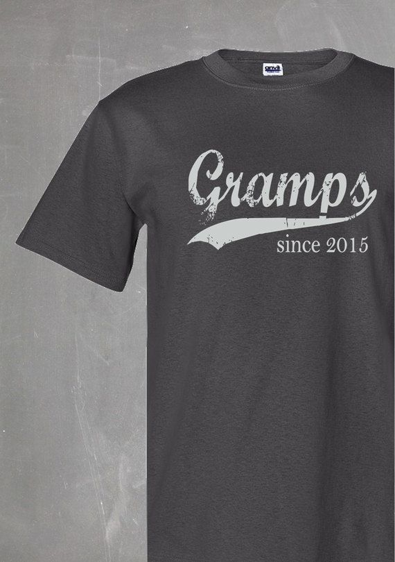 79d8e44a gramps since . any year . silkscreened t shirt . father's day gift . men's  tshirt . gifts for gramps . personalized shirt