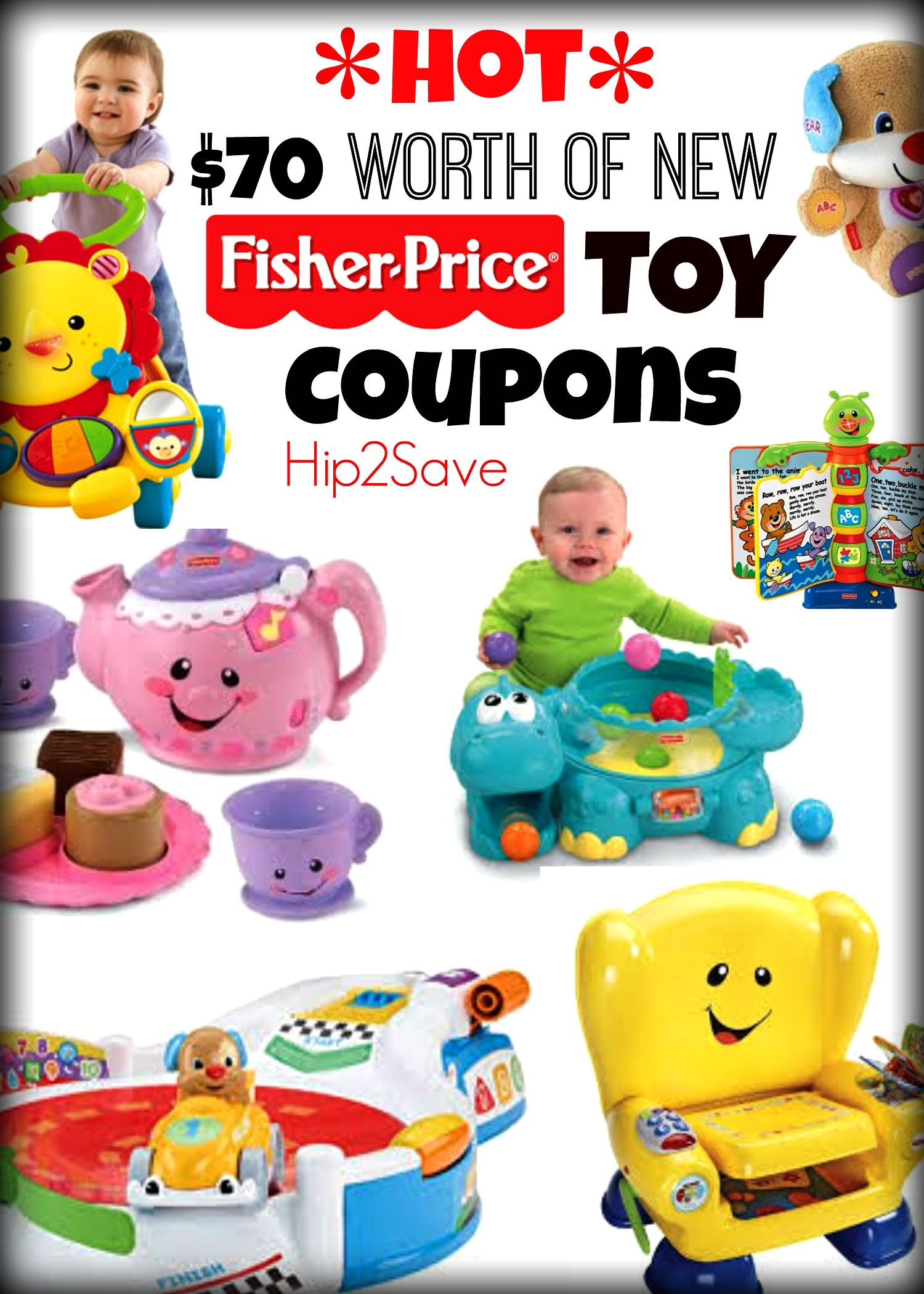 Hot 70 Worth Of New Fisher Price Toy Coupons Print Them Now Before They Re Gone Fisher Price Toys Baby Shopping List Print Coupons