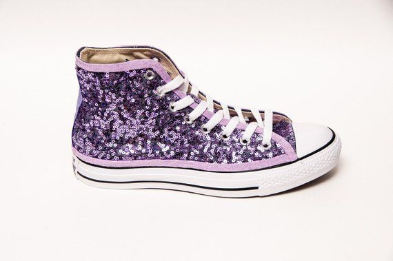 32094c0c71040 Lavender Sequin Converse® High Tops | Products | Sequin converse ...