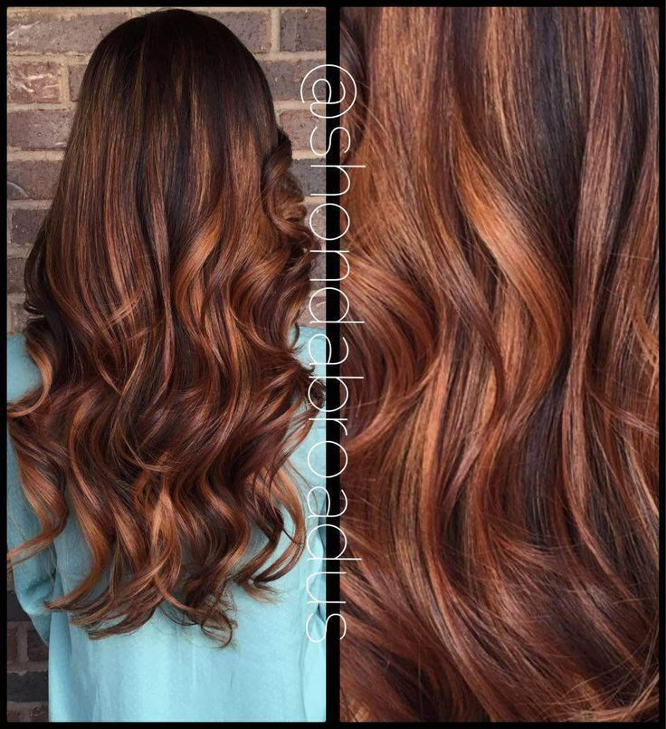 Image Result For Dark Brown Hair With Auburn And Blonde Highlights
