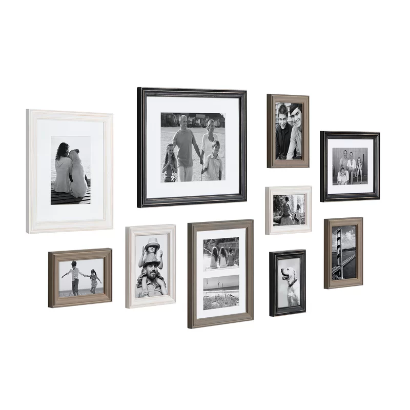 10 Piece Sturminster Gallery Picture Frame Set In 2020 Picture Frame Gallery White Picture Frame Set Gallery Wall Layout