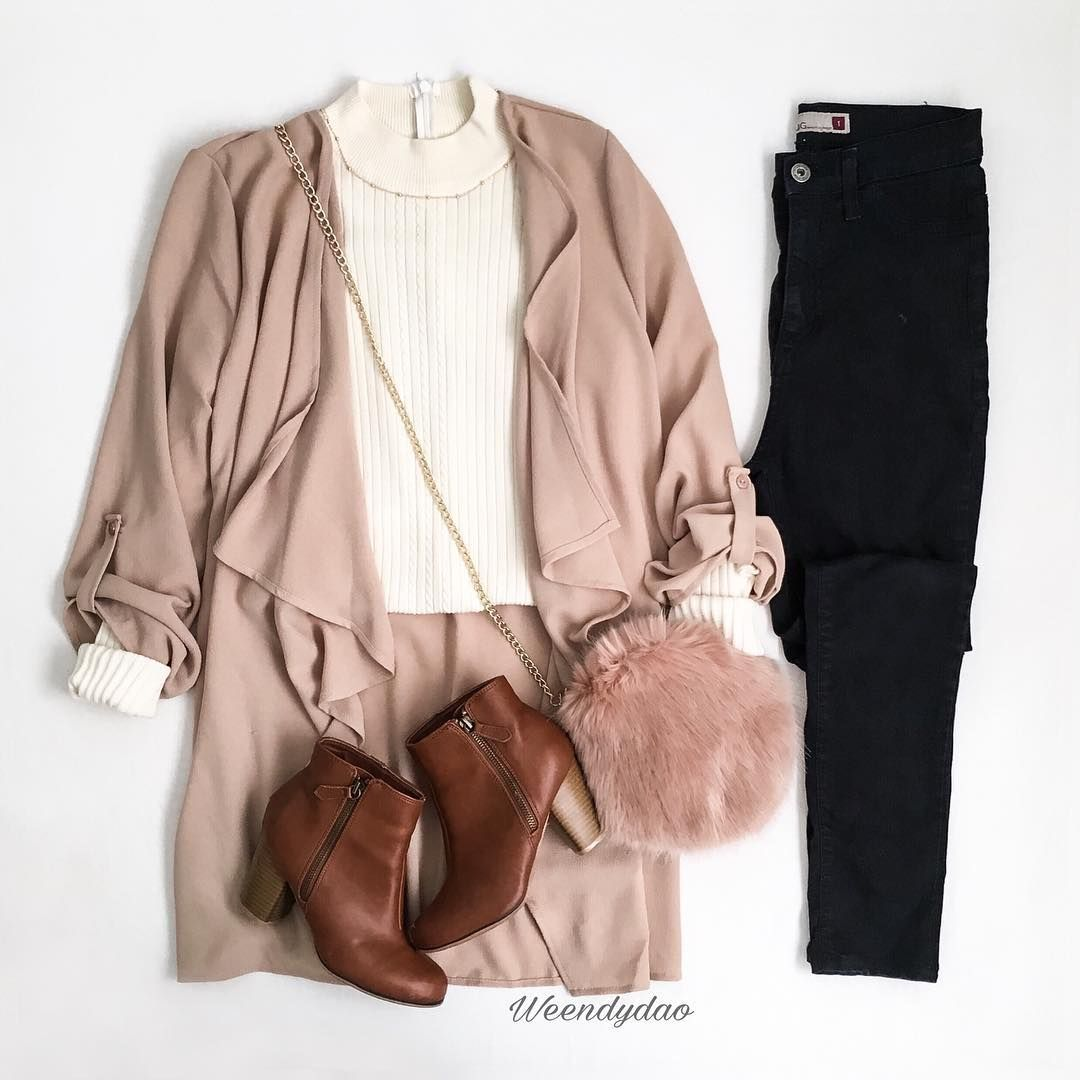 f6f4c55c1e8 How To Look Good with Blush Pink Cardigan Outfit  cardiganoutfit  blushpink   pink  falloutfit  fallfashion  brownboots  cuteoutfit