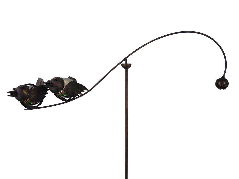 Metal Yard Breeze Ornaments   ... Spinning Balancing Baby Love Birds Metal  Garden Wind