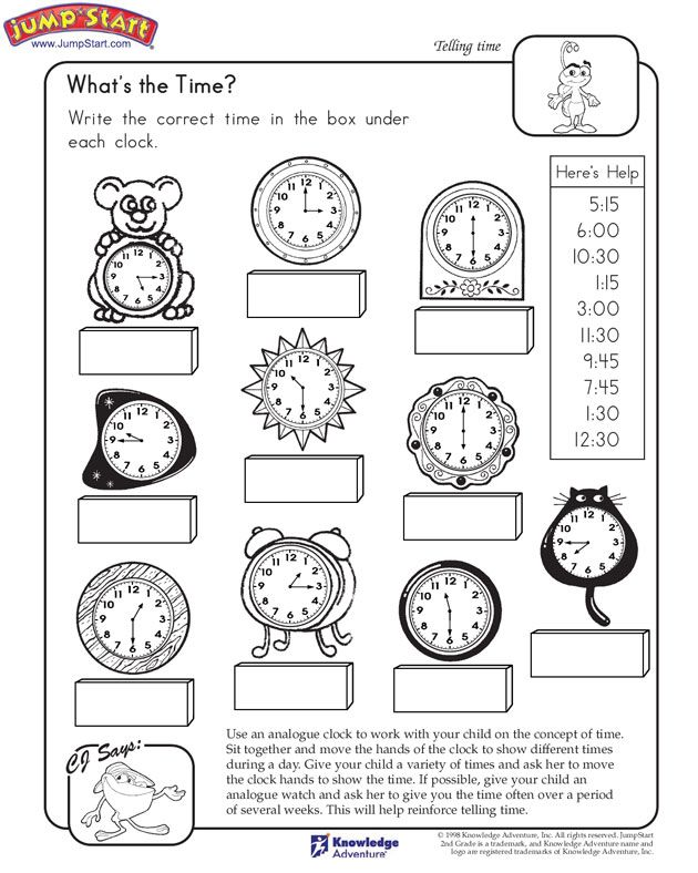 Whatu0027s the Time - time worksheets