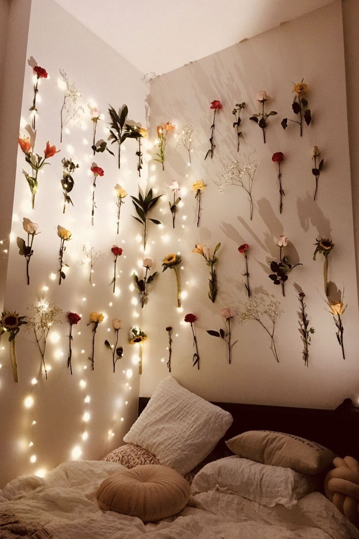 Bedroom VSCO Flower Dormitory Interior design Wall in 20