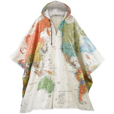 Hooded world map tyvek poncho bring the rain for coatsboots hooded world map tyvek poncho gumiabroncs Image collections