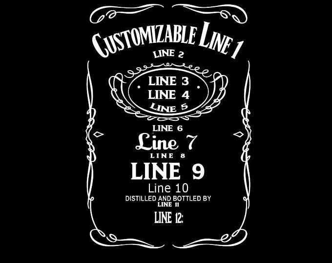 Custom Whiskey Label Custom Whiskey Label Whiskey Label