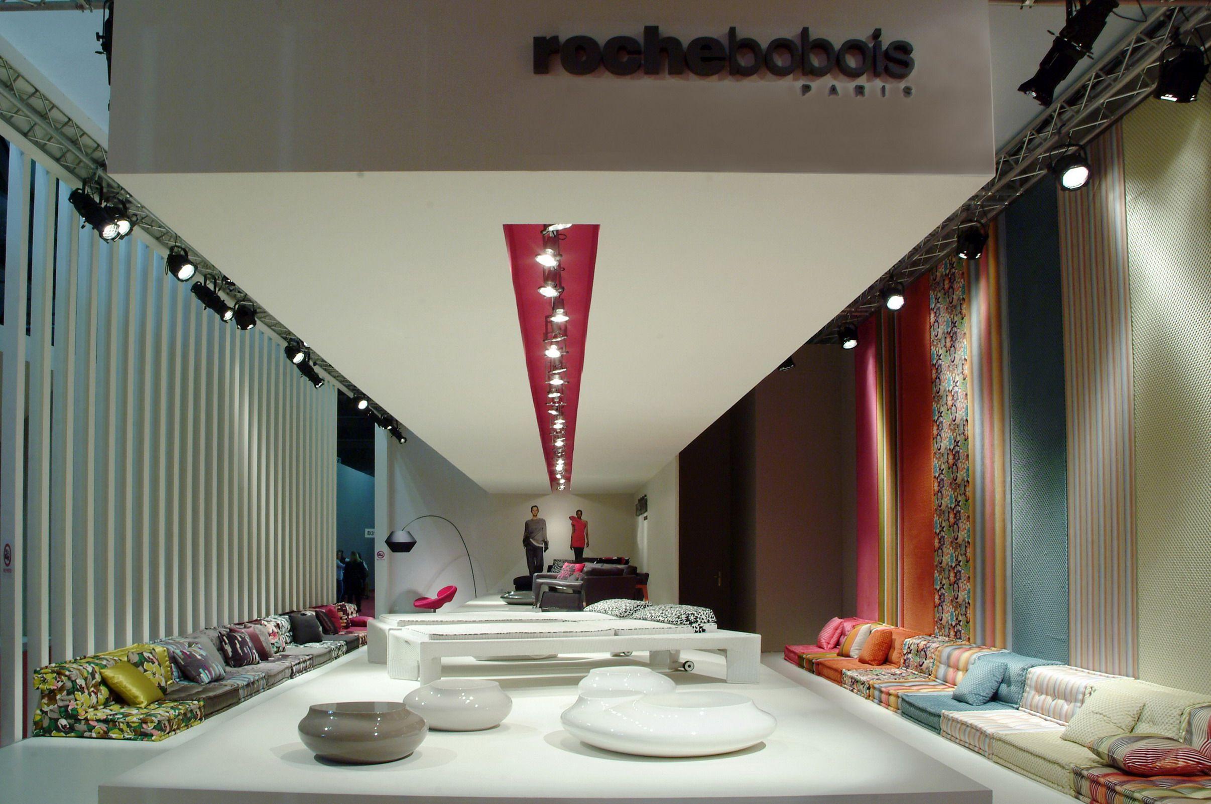 Roche Bobois stand at the Milan furniture fair 2009