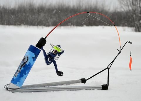 The trigger by black fox fishing ice fishing pinterest for Ice fishing rod holder