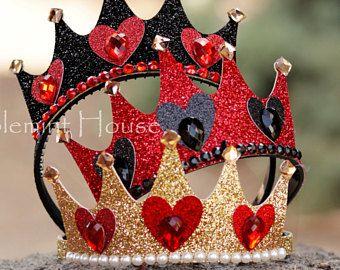 Queen Of Hearts Crown,Queen Of Hearts Costume,Alice in wonderland,Queen Of Hearts Tiara,Queen Of Hearts Headbands,Queen of Hearts