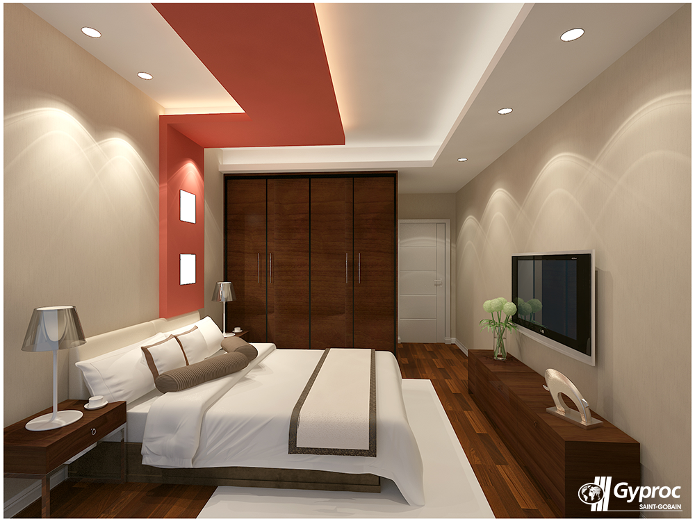 Experience a serene change in your home with this creative - False ceiling design for bedroom ...