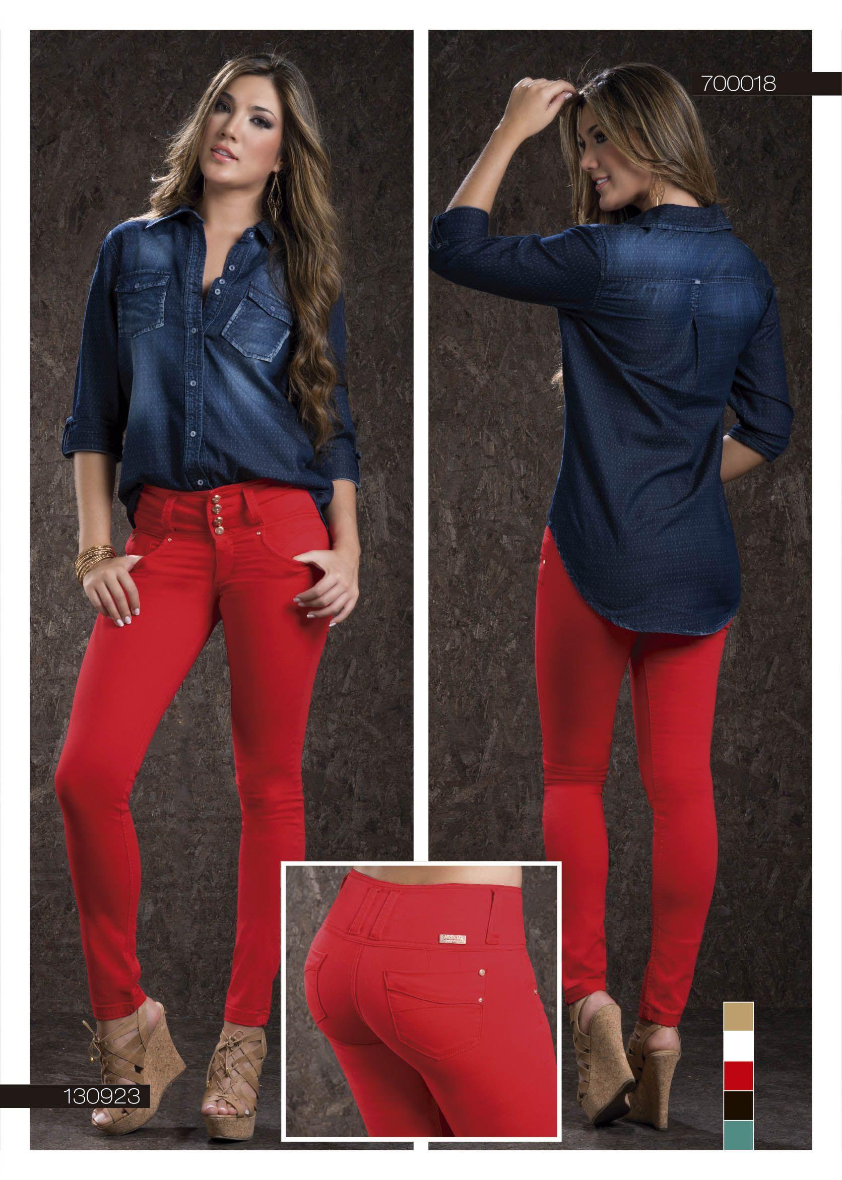 Ropa color rojo para mujer