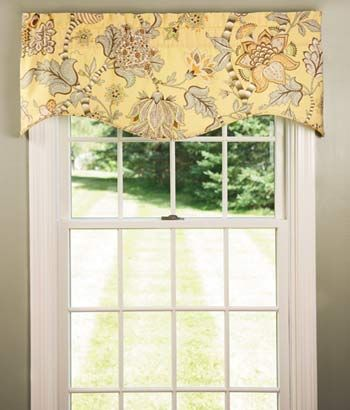 Soft English Floral Lined Scalloped Valance Country