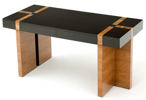 Rustic Americana Hardwood Executive Desk Home Office: Urban Rustic Collection Desk Design #3