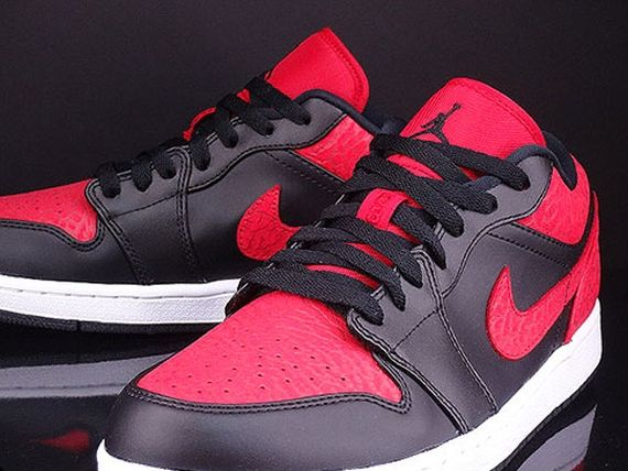 huge discount c1553 d62a4 Air Jordan 1 Low - Black - Red Elephant Print - SneakerNews.com