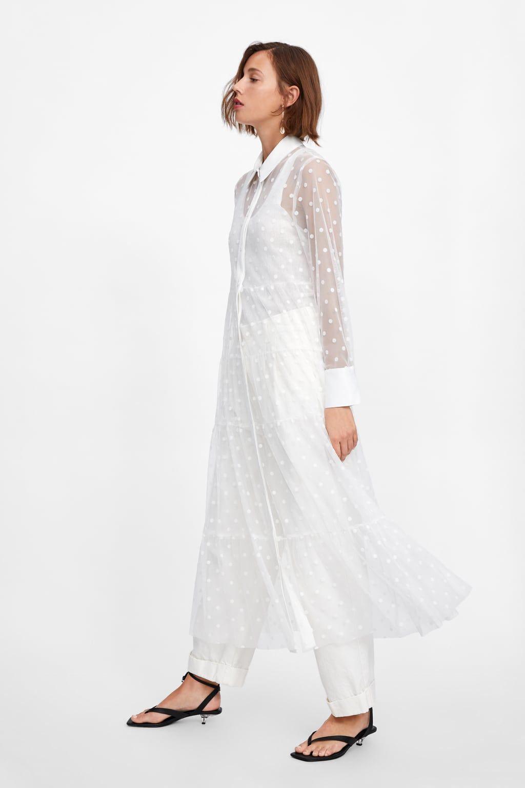 Tulle Dot Dress Best Sellers Woman Zara United States Tulle Dress Dresses Office Wear Women